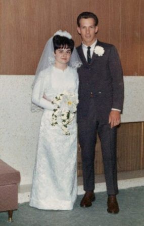 Shirley and Dennis Slack on March 24, 1967
