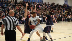 Badger athletes put up a defensive wall in their battle against USU-E last week. The Snow team overwhelmed their opponents 106-74, taking the Scenic West Athletic Conference title.