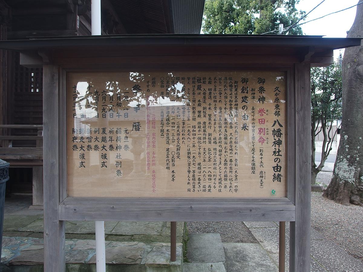 久が原東部八幡神社写真