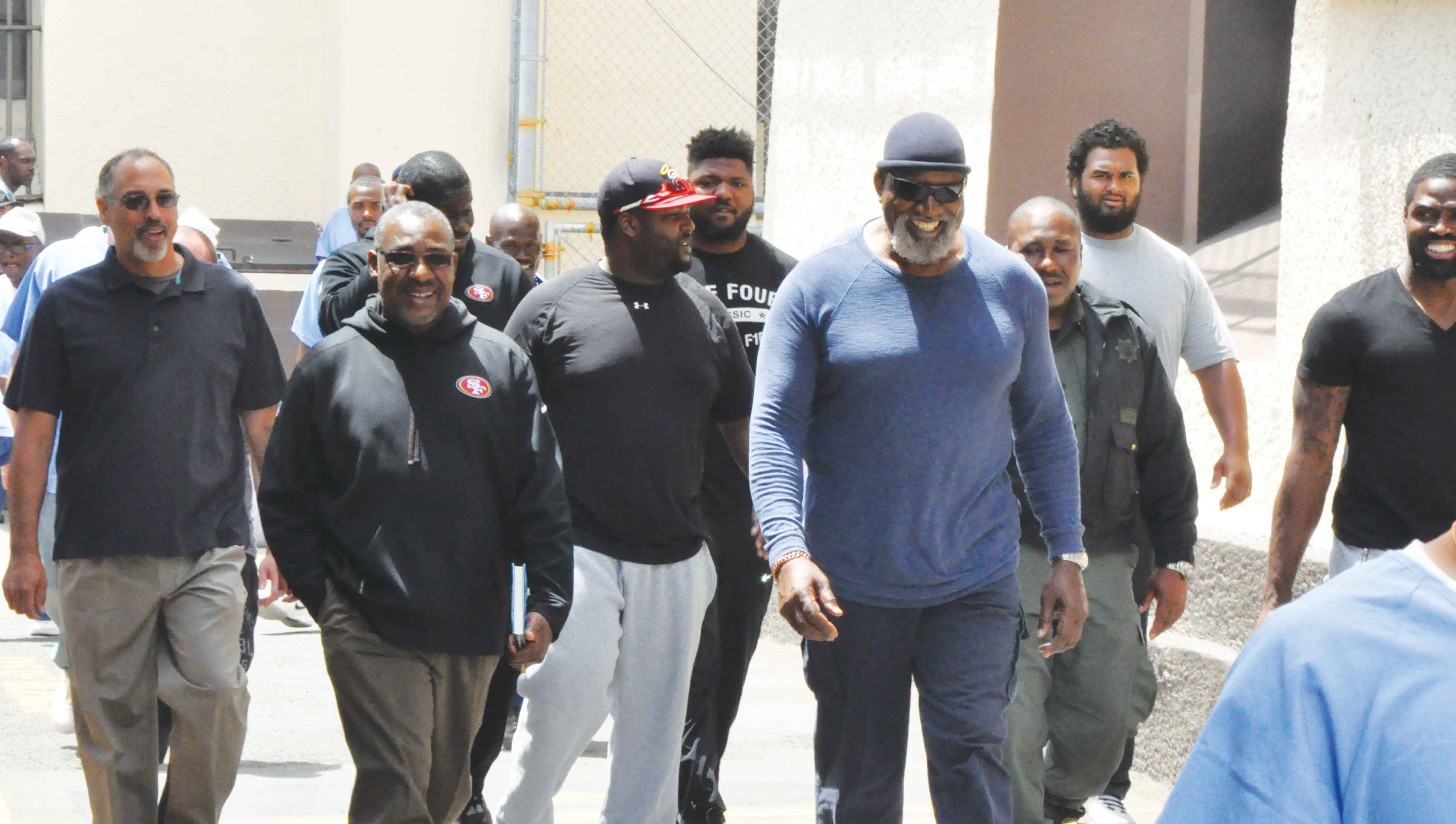 49ers Chaplain Earl Smith And Players Tour San Quentin