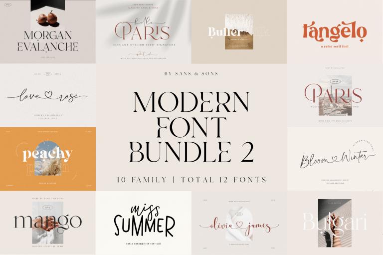 Modern Font Bundle 2