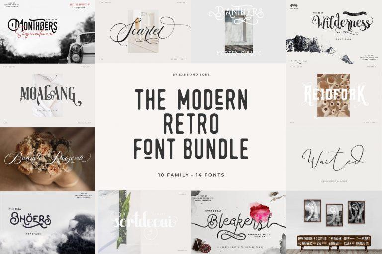 Modern Retro Font Bundle