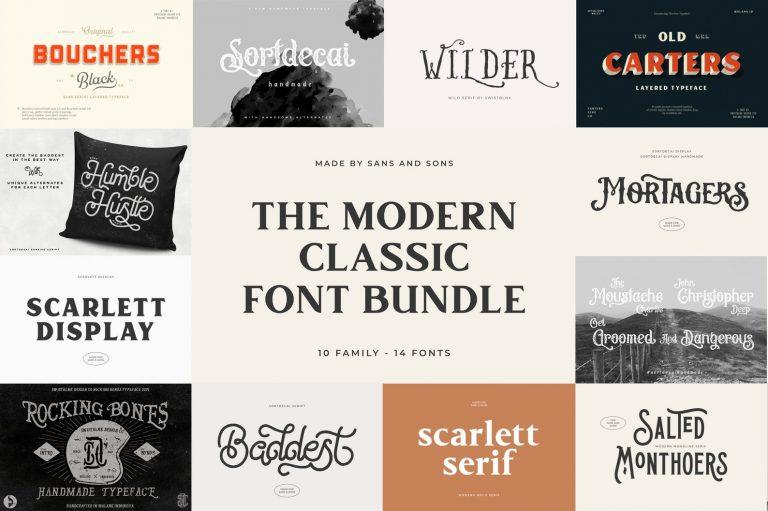 Modern Classic Font Bundle