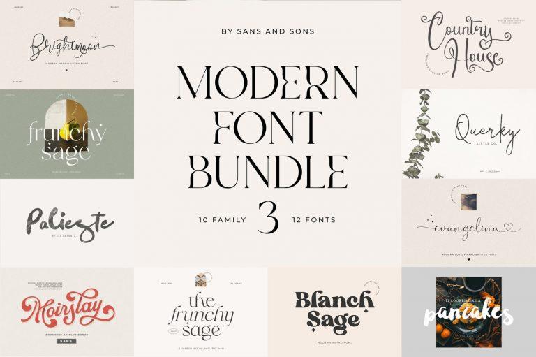Preview image of Modern Font Bundle 3