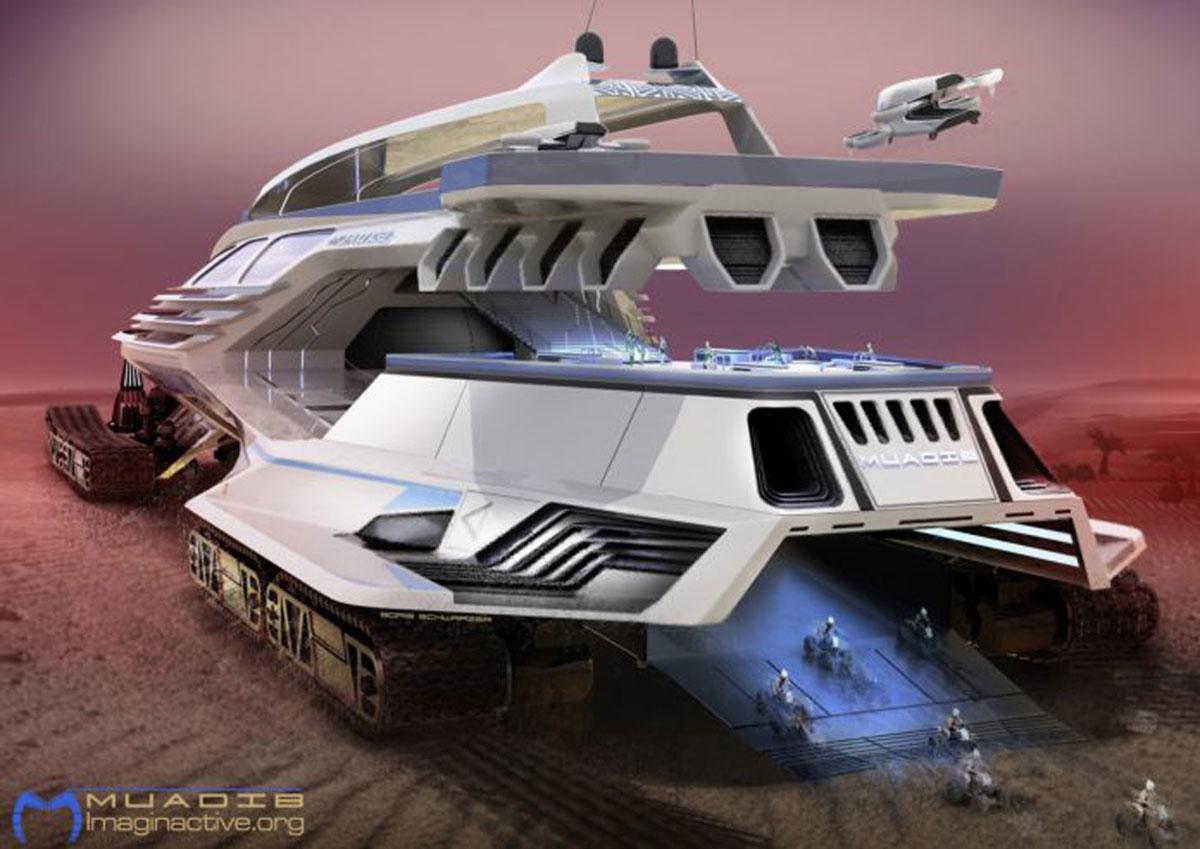 Muadib, bateau de croisière des terres inexplorées et laboratoire scientifique, un concept qui fait rêver. Davantage de bateaux du futur sur Sansible #sansible #bateau #futur #innovation #ecoconception #ecodesign #futurpropre