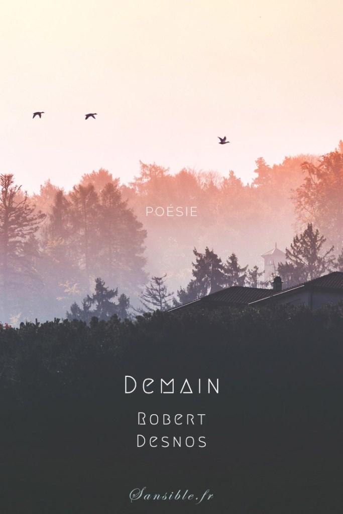 """""""Demain"""" de Robert Desnos, poème engagé : Chaque semaine, un poème ou extrait de prose d'un autre auteur, cité dans le roman L'ombre des lucioles. #poesie #robertdesnos #demain #litterature #sansible #epigraphe #lombredeslucioles #surrealisme #resilience #survie #revolte #espoir"""