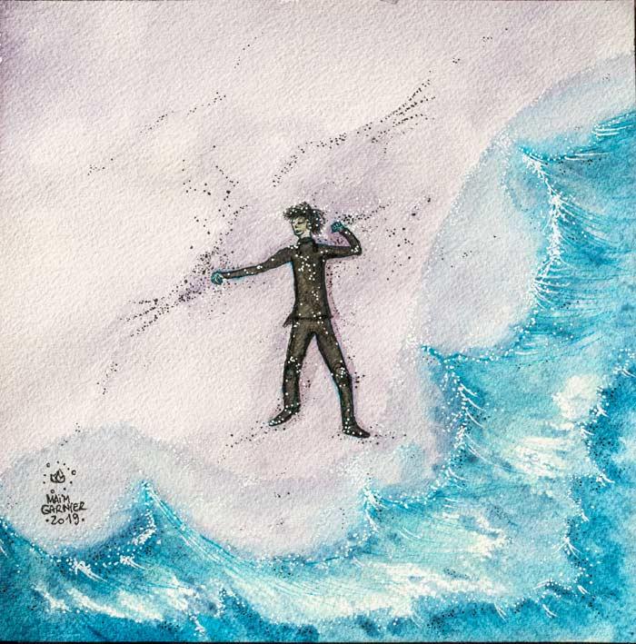 Castaway. #Esperia serie, new art piece, ink and watercolor #illustration for a Dominique Poulain (Nimentrix) story. #aquarelle #watercolorartists #illust #fantasyartwork #MaimGarnier #inktober2019 #inktober #castaway