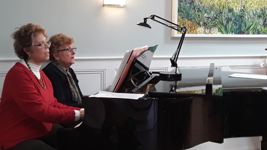 Ruth & Doris piano duet