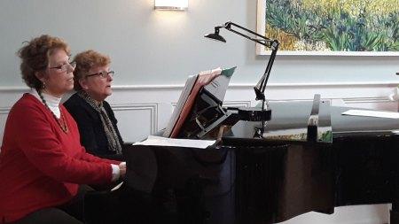 Ruth & Doris piano duet
