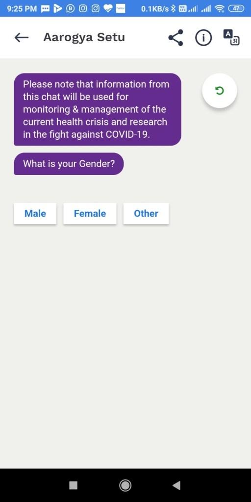 Screenshot 2020 04 15 21 25 49 201 nic.goi .aarogyasetu आरोग्य सेतु Apps कोरोना वायरस Surksha Kavach