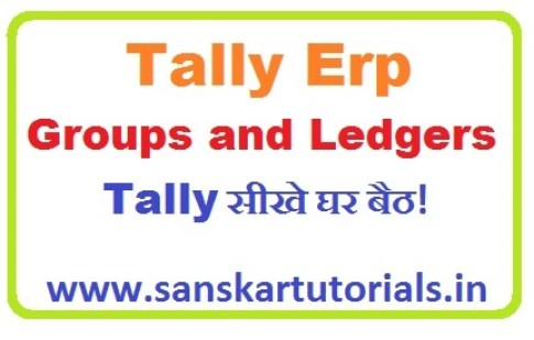 Tally Groups and Ledgers