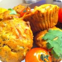 Les petits cakes salés de légumes d'été sans oeufs