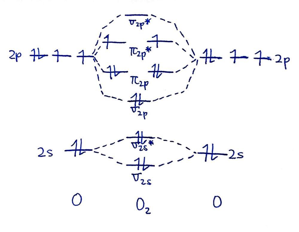 medium resolution of draw the mo diagram for o 2 o 2