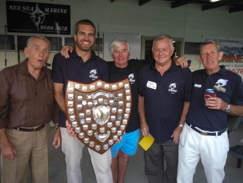 Evan Leeson - Club Champion 2013, from left Rex Oxgood (2nd ever club champ), John Black (3rd club champ, multiple state and Australian Champion), Fred Nann (first club champion, first president, first life member), Bill Richmond (foundation member and our first secretary)