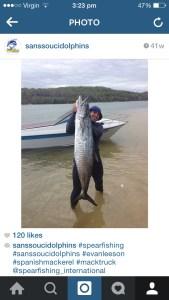 Evan Leeson's 28kg Spanish Mackerel