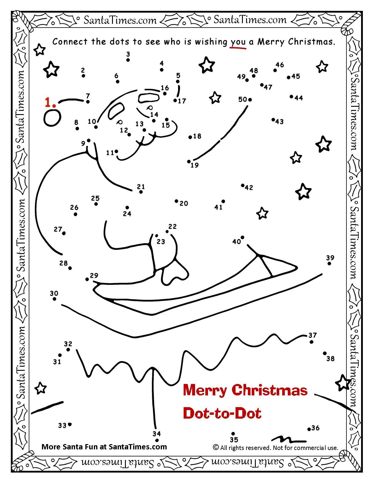 Merry Christmas Dot To Dot