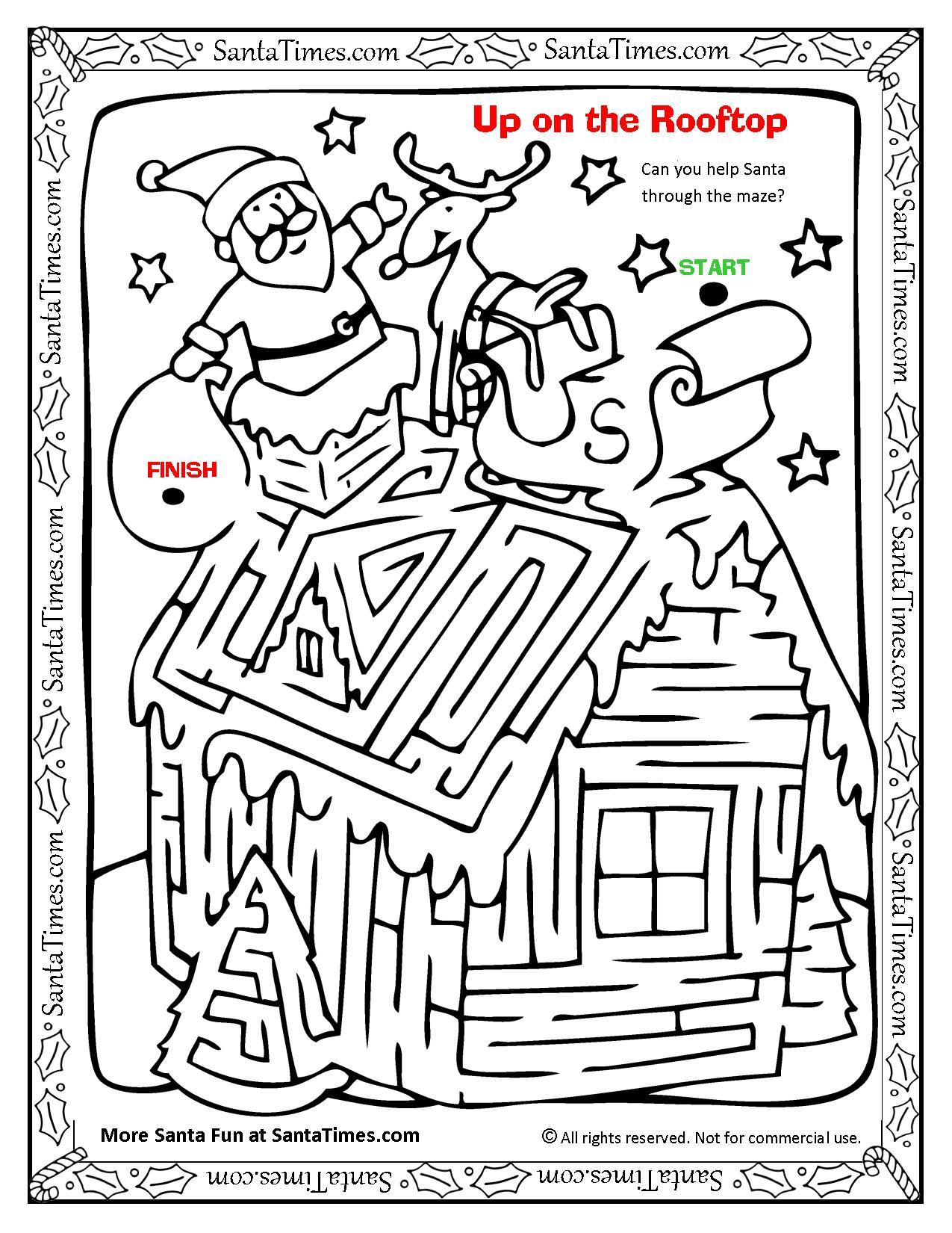 Up on the Rooftop Santa Maze