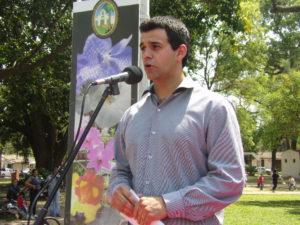 Apertura oficial y bienvenida a cargo del intendente  Augusto Navarrete