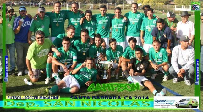 CCSL Division Mayor San Nicolas Campeon Verano 2014