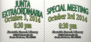 Junta Extraordinaria Octubre 3 2014