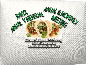 Junta Mensual Y Anual Anual and Monthly Meeting