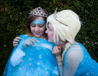 Little Girl Elsa Costume and Ice Queen
