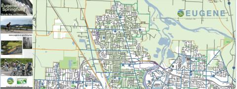 Portion of Eugene-Springfield Bike Map