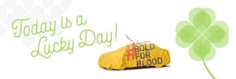 Today is a Lucky Day, give blood, possibly win a car.
