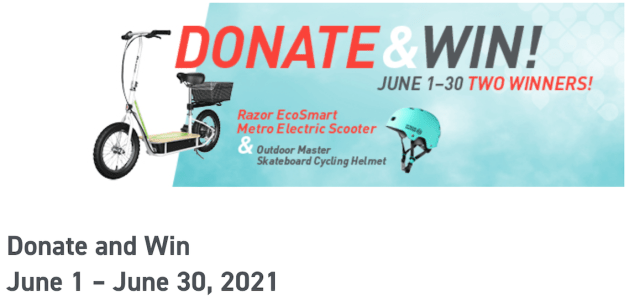 Donate blood in June and win an e-bike.