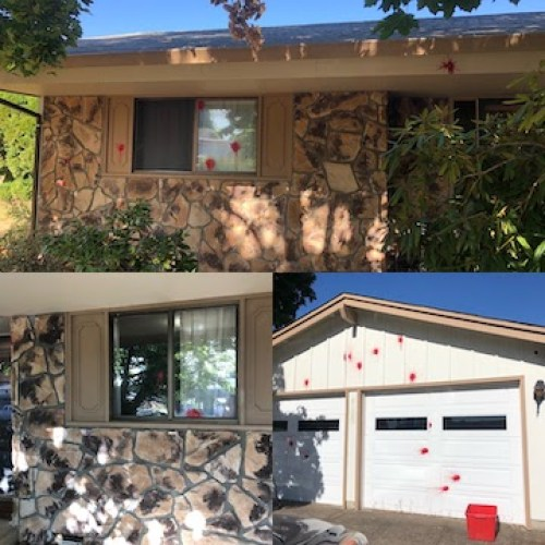 Paintball attack on Santa Clara house that had a Black LIves Matters sign in the front yard.