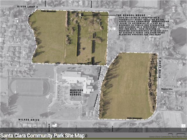 Map of Santa Clara Community Park