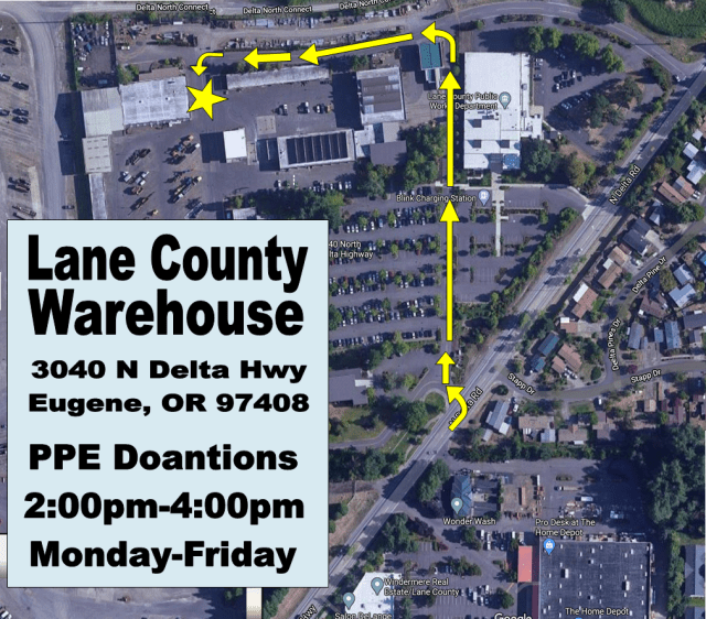 Lane County Ware House drop off center