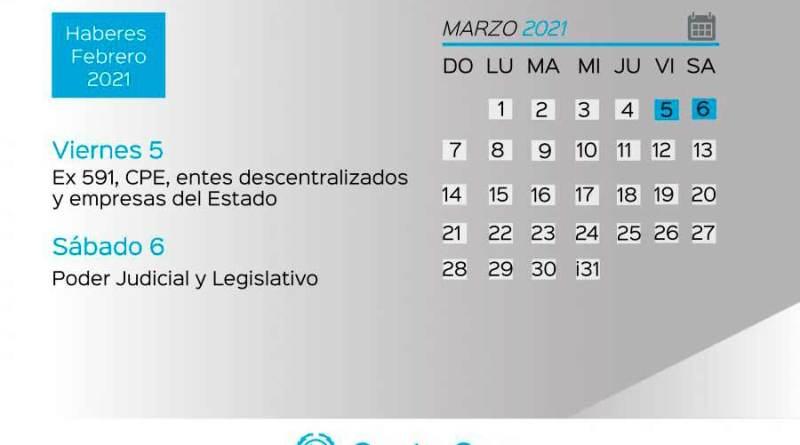 Cronograma de pago de haberes del Estado Provincial y recomendaciones a la comunidad