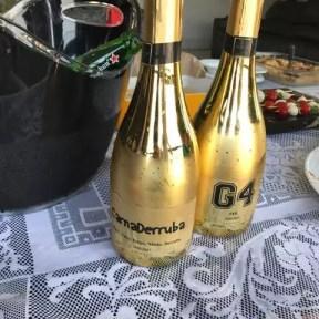 garrafa metalizada personalzada champagne