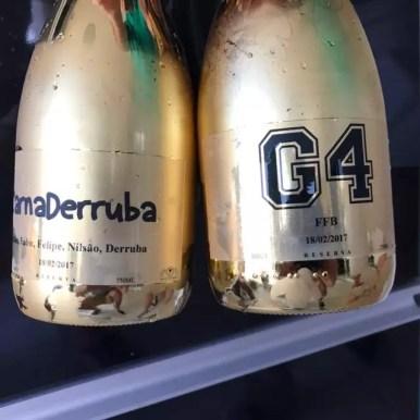 garrafas de champanhe decoradas