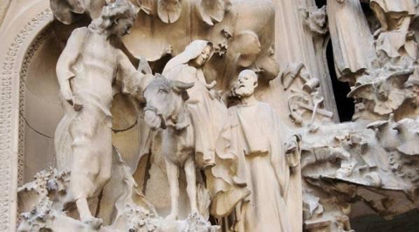 Detalle de la Sagrada Familia