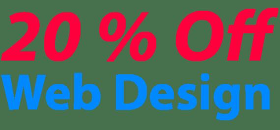 20 percent off web design