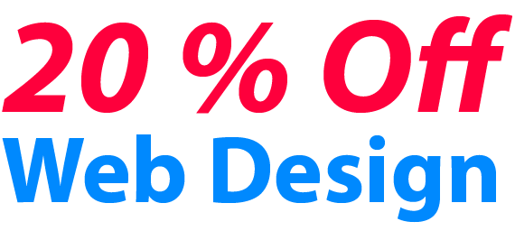 20 % off web design discount month