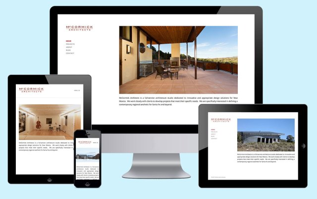 McCormick Architects - Responsive Web Design
