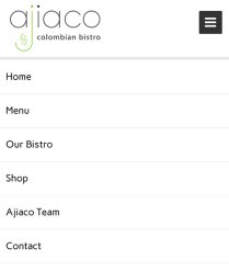 Ajiaco Mobile Menu