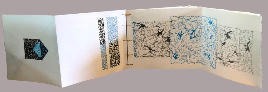 Stay-Flat Artist Sketchbook with Fold-Out Pages by Eugene Stewart-Huidobro