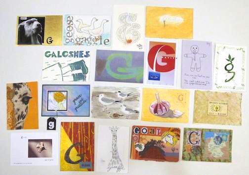 """G"" Postcards"