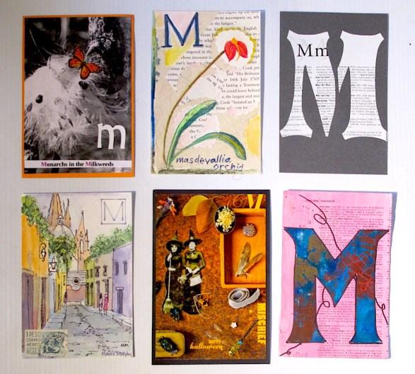 """M"" Postcards"