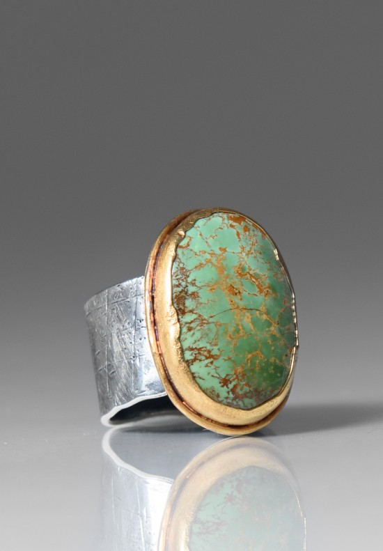 Greig Porter Royston Turquoise Oval Ring  Santa Fe Dry