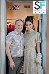 Seams Unusual Clothing Designer Ezra Estes and Model Lilusha Bravo