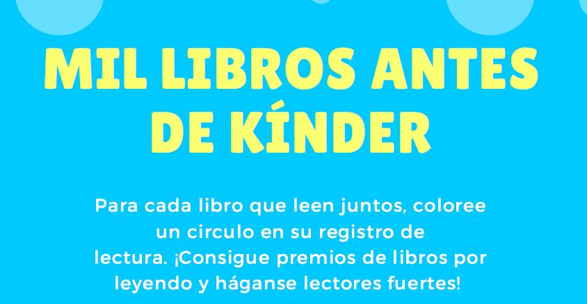 MIL LIBROS ANTES DE KÍNDER