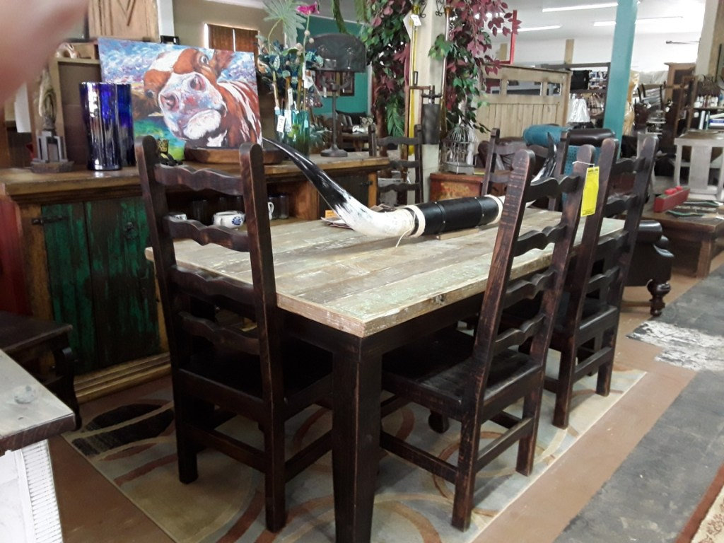 F4 Reclaimed 7 ft Table one of the kind