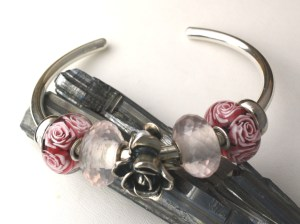 Mother's Rose, Rose Quartz with Rose of June