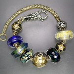 A Celestial design with Northern Lights Magic by Trollbeads