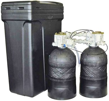 Non-electric, high flow rate water softeners are powered by water pressure.